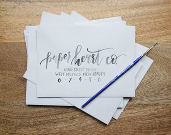 Custom Watercolor Calligraphy Envelope Addressing, Hand Lettered, Wedding Calligraphy, Watercolor Calligraphy, Envelope Addressing
