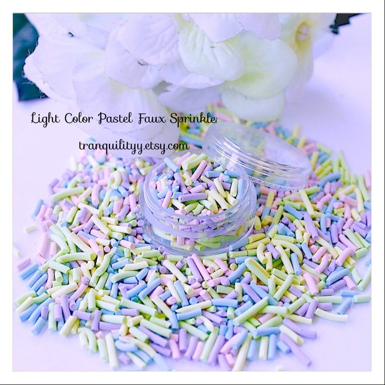 Decoden Candy Pastel Faux Sprinkles Polymer Sprinkles Small Pastel Handmade By: Tranquilityy Pastel Faux Sprinkles