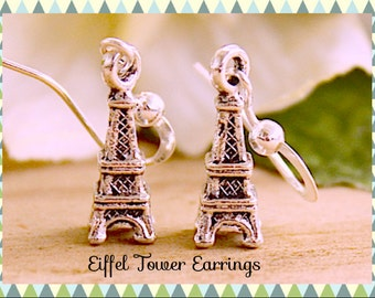 Eiffel Tower Pairs France Dangle Earrings By: Tranquilityy