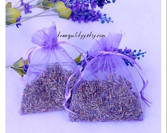 Lavender Sachet , Very Fragrant Fresh Ultra Grade Lavender Buds Organza Bags, Lavender Essential Oil Sachet Bags, By:tranquilityy