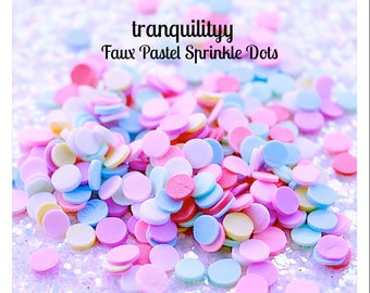 Pastel Sprinkles, SLIME Faux Sprinkles Dots ,  Pastel Sprinkles Dots, Decoden Candy , Polymer Sprinkles,  By: Tranquilityy