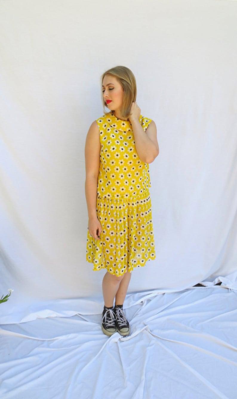 9e3f6ee0eb Daisy Grace Yellow Linen Chiffon Daisy Polka Dot 2 Piece | Etsy