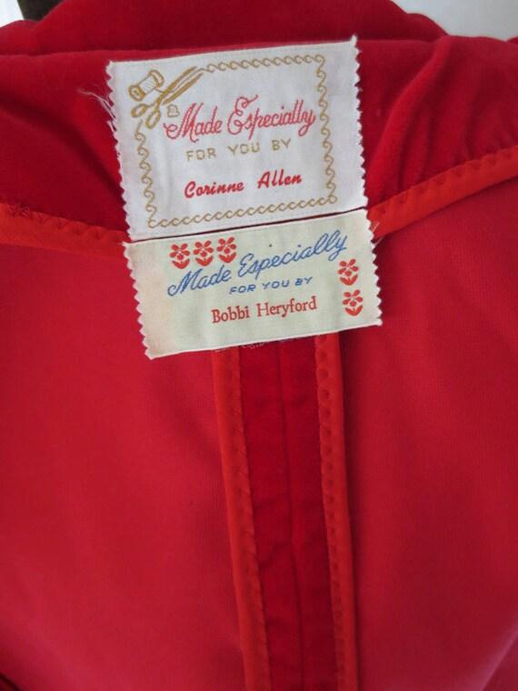 Red Velvet Jacket   1950s Red Velvet Blazer   Roc… - image 7