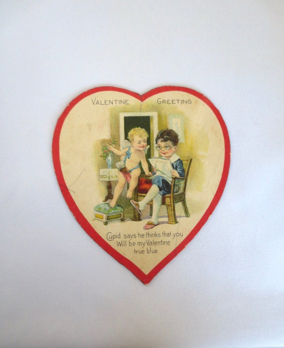 SENDING YOU LOVE Cupid Embossed Scrapbook Tag
