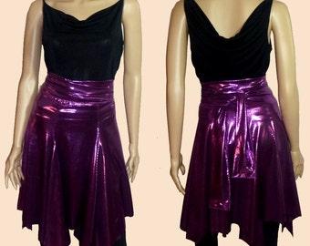 metallic wrap skirt in purple  1206104
