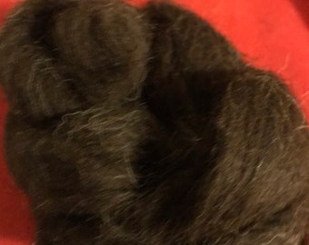 Black Shetland Wool Roving 1 or 2 oz Spinning Felting Fiber