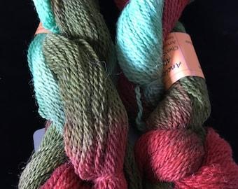 Alpaca Merino yarn hand dyed in Colorado