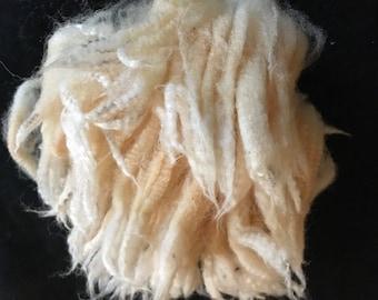 White East Fresian Raw wool 4 or 6 oz Raw Wool