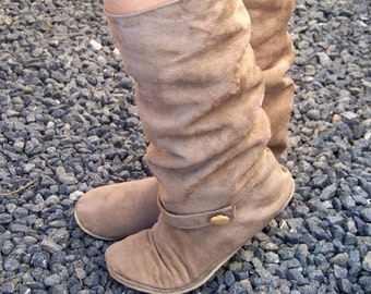 How to Make Boots - Women's Slouchy Boots Vegan PDF Sewing Pattern Sizes 5-11 US - INSTANT Download