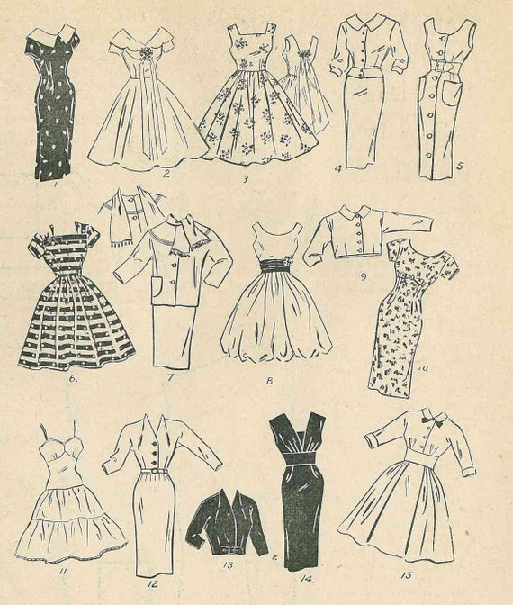 década de 1950 \'Enid Gilchrist patrones para mujeres y | Etsy