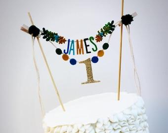 Rustic Birthday Cake Banner
