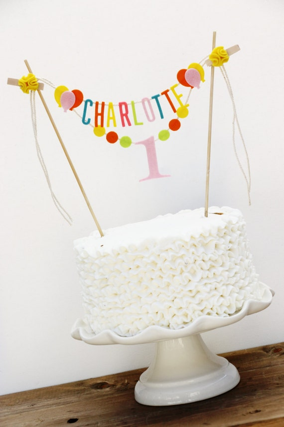 Birthday Cake Banner Personalized Birthday Cake Banner Etsy