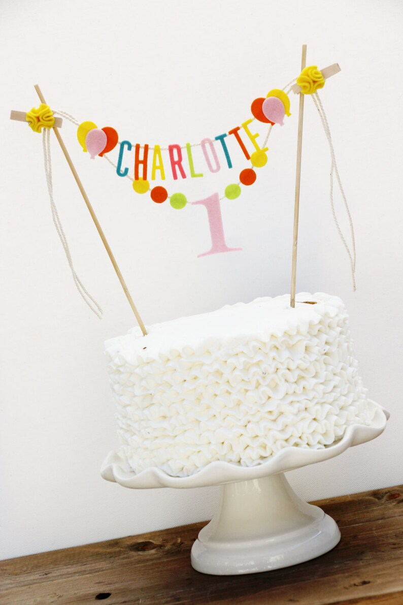 Birthday Cake Banner Personalized