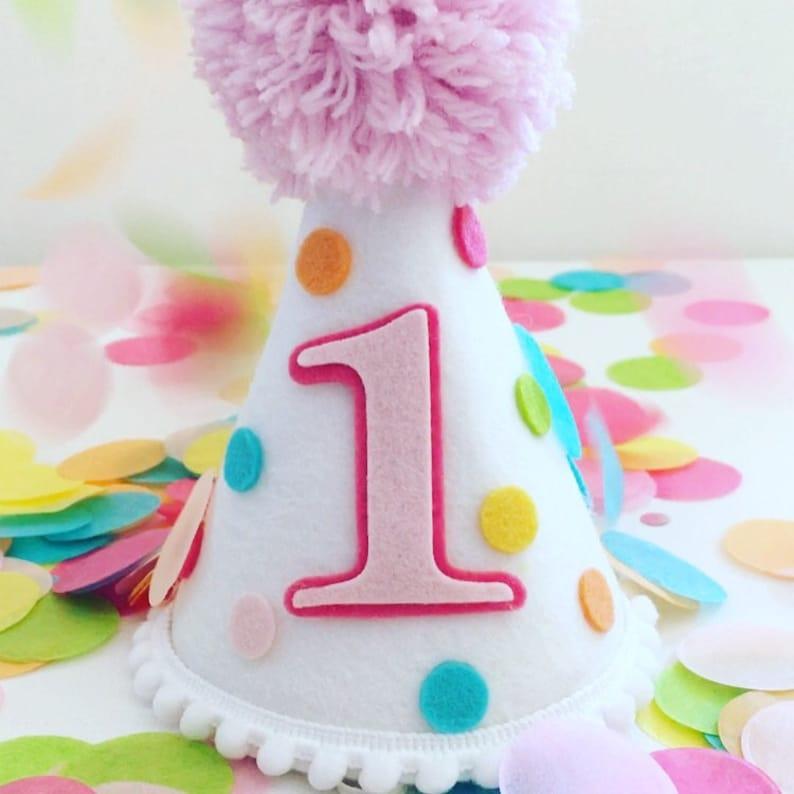 Party Hat Birthday Smash Cake Confetti
