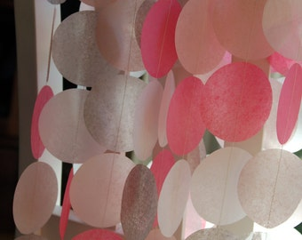 Tissue Paper Garland, Party Garland, Baby Shower Garland, Wedding Garland, Birthday Garland, Pink Garland - Baby Girl