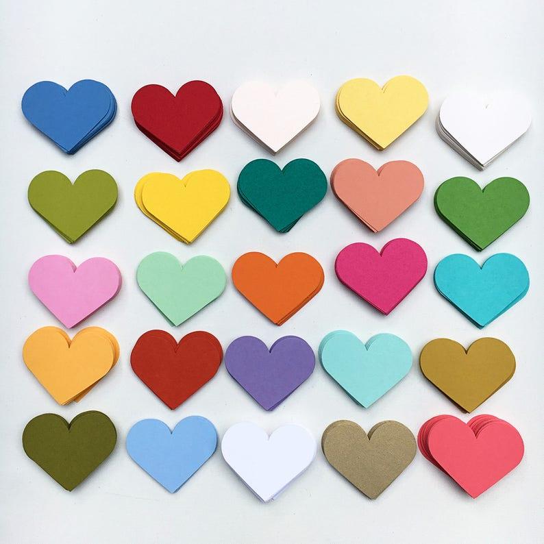 Valentines Day Decor 3D Garland Rainbow Hearts Heart Garland Wedding Garland Valentines Garland Valentines Day Hearts Paper Garland