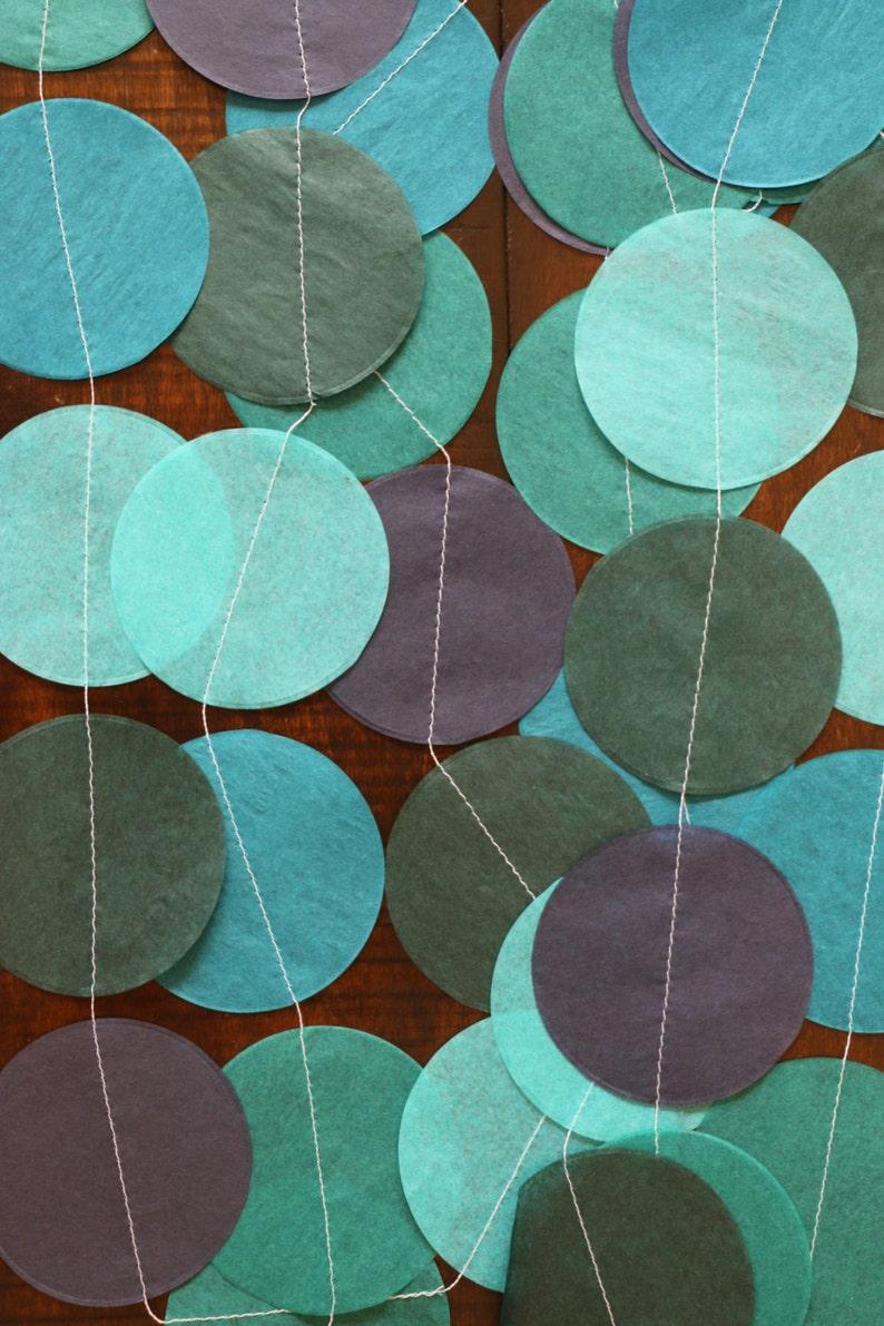 Wedding Garland Tissue Paper Garland Birthday Garland Blue Garland- Rich Blues Party Garland