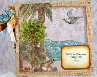 Beach Wedding Scrapbook Album, Guest Book Destination Wedding,  Photo Album, Gift to Bride from Maid of Honor,