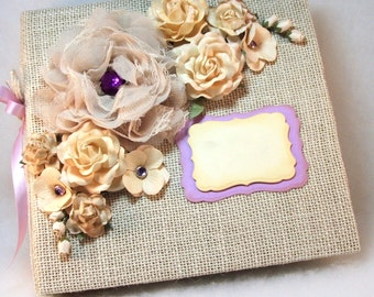 Wedding Photo Album, Mini Scrapbook Album, Wedding Guest Book, Photobooth Album, Custom Order Scrapbook, Gift to Bride from Maid of Honor