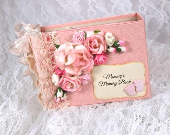 Pink Baby Girl Scrapbook Album Little Girl Photo Book Etsy