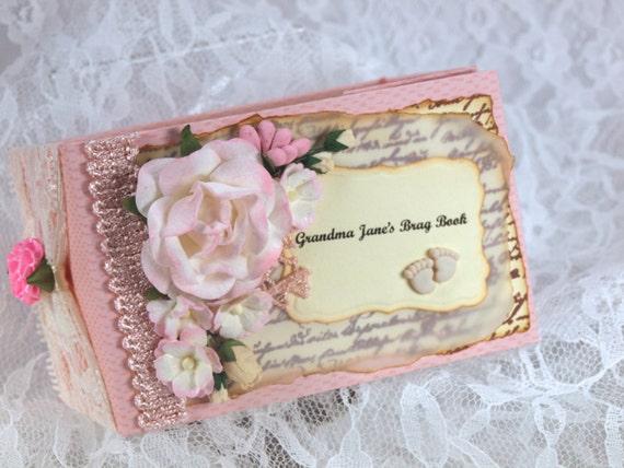 Baby Girl Photo Album Grandma Brag Book Childrens Book Etsy