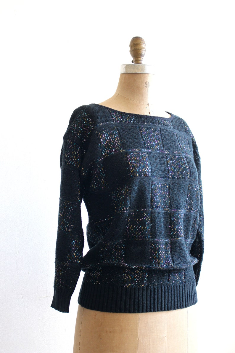 metallic rainbow lurex sweater  vintage 80s sweater vintage 80s lurex sweater 1980s sweater  80s lurex sweater 80s Halloween costume