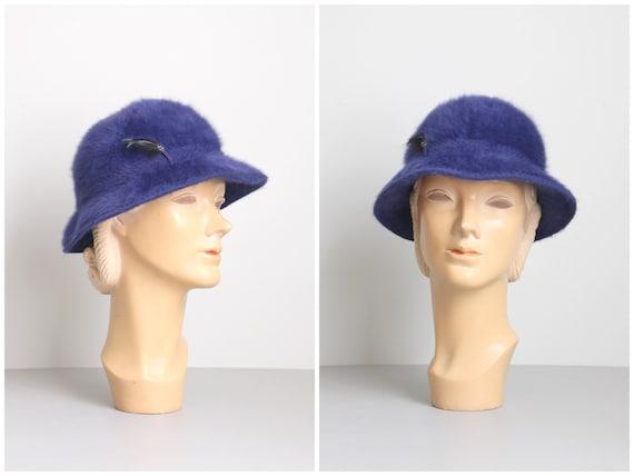 90s bucket hat - cobalt blue Kangol furgora hat -