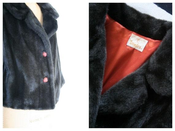 vintage 1950s faux fur coat - '50s faux fur jacke… - image 3