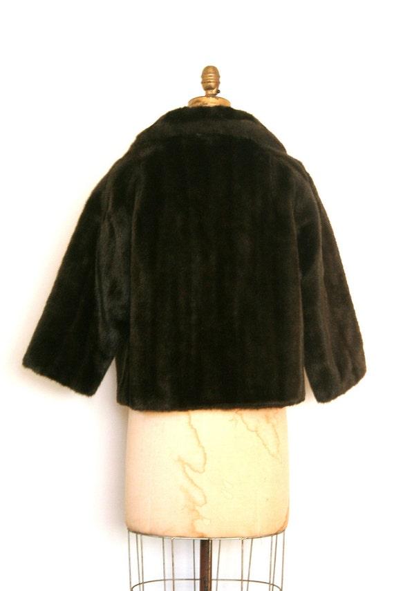 vintage 1950s faux fur coat - '50s faux fur jacke… - image 5