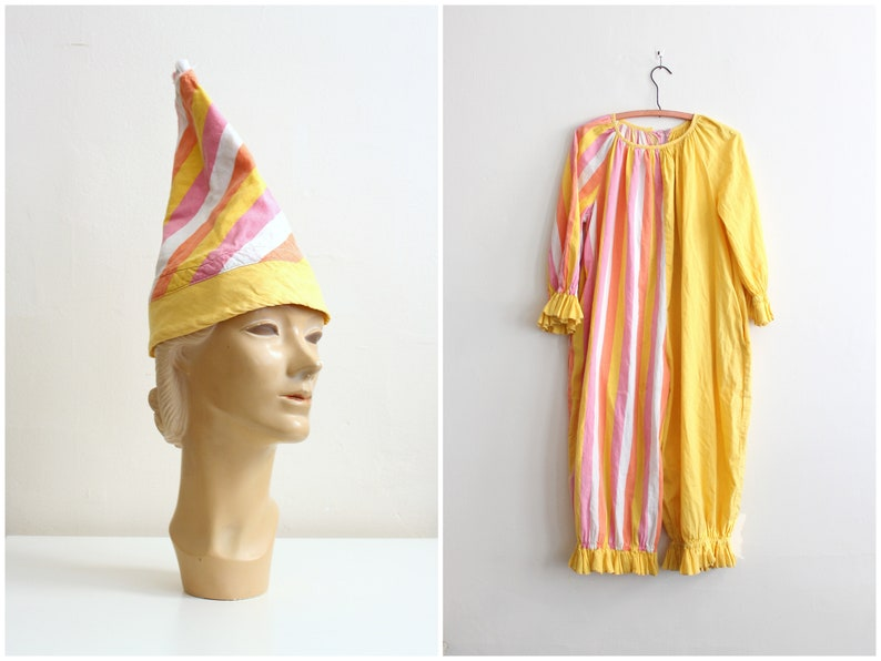 6822b93fbaed Vintage 1930s 40s clown costume RARE circus costume   sherbet