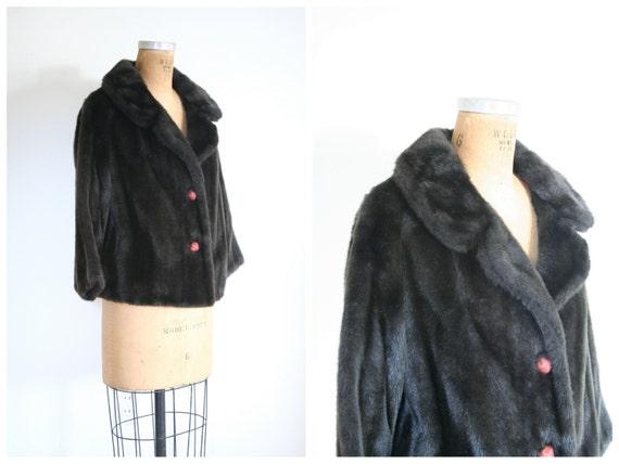 vintage 1950s faux fur coat - '50s faux fur jacke… - image 4
