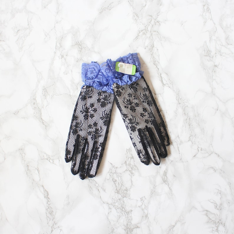vintage 80s lace costume gloves PROM black lace gloves  Gothic Lolita gloves sweet kawaii  gothic gloves 80s Madonna costume