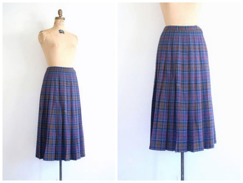 01a6d9e047 Vintage Pendleton wool plaid skirt pleated plaid skirt / | Etsy