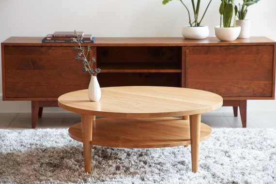 Pleasing Round Coffee Table Oxelaand White Oak Lamtechconsult Wood Chair Design Ideas Lamtechconsultcom