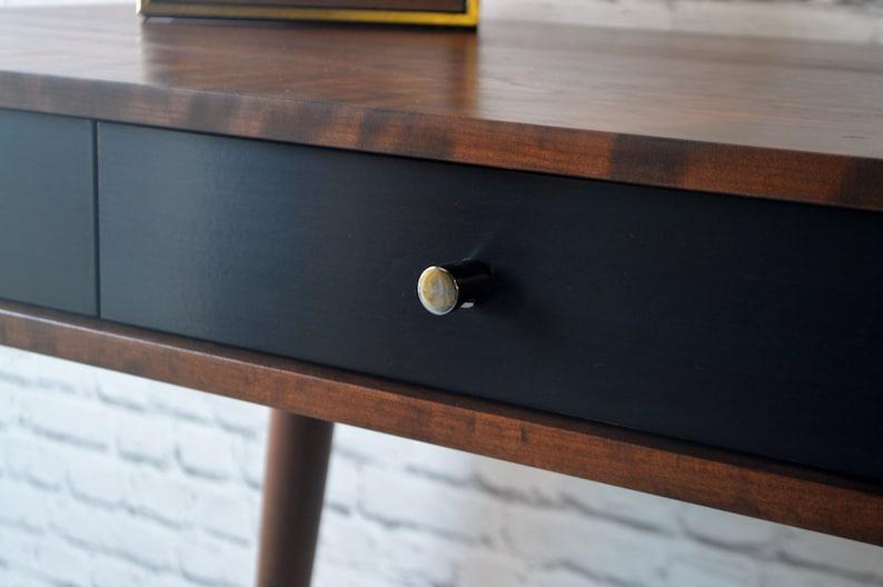 Solid Cherry Danish Modern Style Antique Cherry Stain Bloom Desk 54