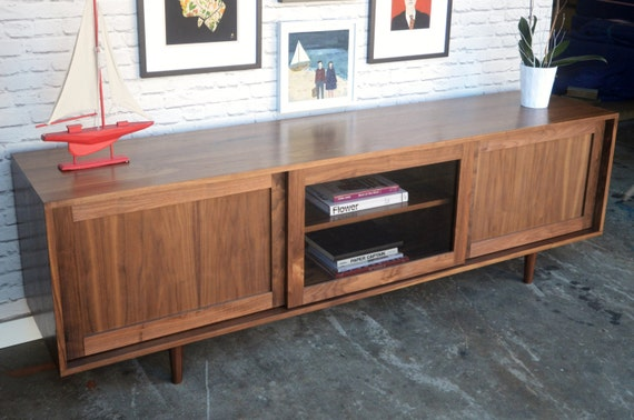 Danish Credenza Walnut : Sterling furniture mid century credenza with classic home