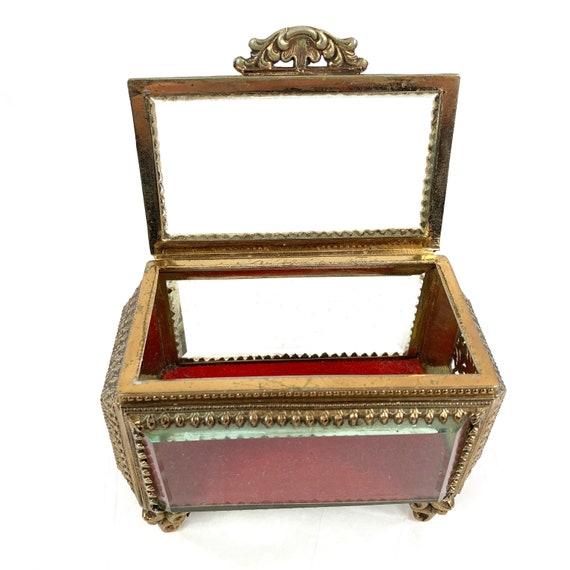 French Filigree Ormolu Filigree Jewelry Box Casket
