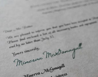 Harry Potter Gift -  Hogwarts Acceptance Letter - Customize it with your name!