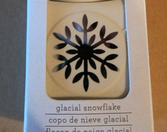 Martha Stewart GLACIAL SNOWFLAKE Paper Punch Double Craft Scrapbook Card Making