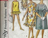 Vintage 1960s Simplicity 4506 MATERNITY Dress Or Shirts And Top Sewing Pattern Size 14 Bust 34