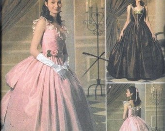Stunning Historic Gown Pattern Simplicity 4479 0584 Sizes 14-20 Uncut