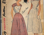 Vintage 1950s Simplicity 2718 Fitted Dress Sewing Pattern Size 12 Bust 30