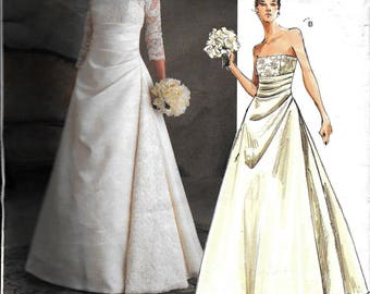 Jackie kennedy dress etsy vogue v2842 wedding dress gown jackie kennedy vintage 1960s style sewing pattern 2842 uncut size 6 8 10 junglespirit Gallery
