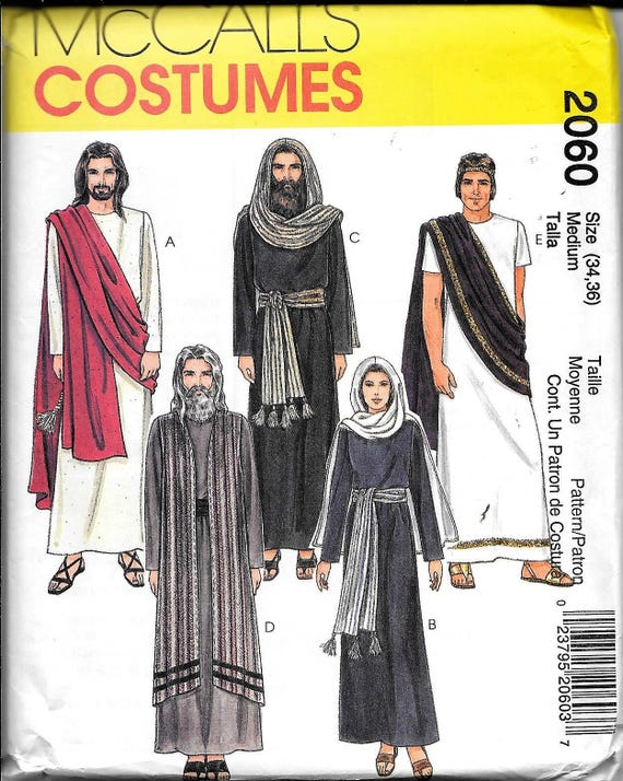 McCall's 2060 Erwachsenen Passionsspiels Ostern Jesus Maria Weihnachts Krippe Kostüm nähen Muster Mittel 34, 36