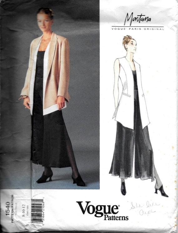 Vogue 1540 MONTANA Paris Designer Sewing Pattern Lagenlook | Etsy