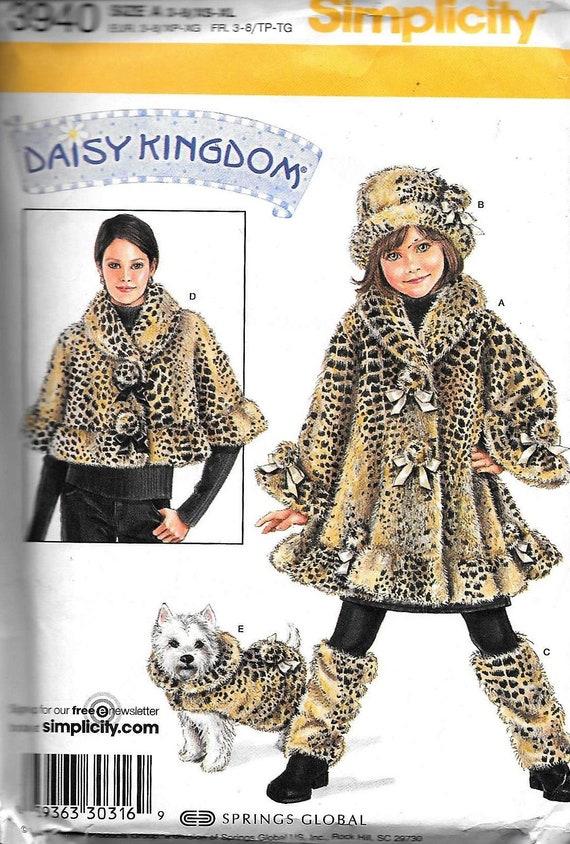 Simplicity 3940 Daisy Kingdom Child\'s Coat Hat Leg | Etsy
