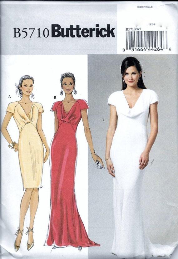 Butterick B5710 noche boda nupcial vestido Formal coser sin | Etsy