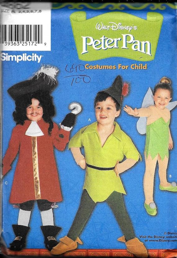 Disney 9862 Einfachheit Peter Pan Tinkerbell Nähen Muster   Etsy