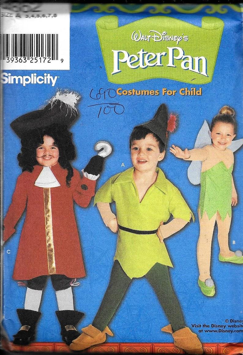Disney 9862 Simplicity Peter Pan Tinkerbell Sewing Pattern image 0