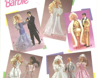 Vintage Simplicity 7362 11 1/2 BARBIE & KEN DOLL Clothes Sewing Pattern Uncut
